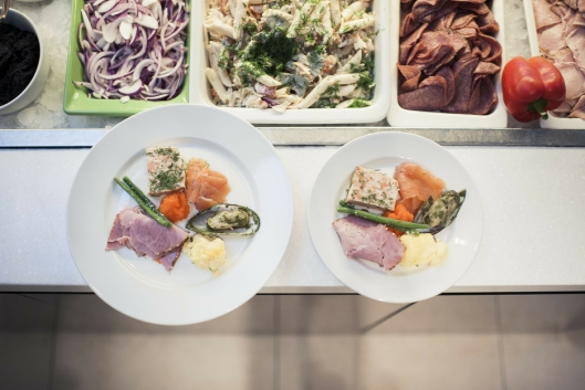 TILTAK: 20 prosent mindre tallerkenstørrelse på buffet gir opptil 20 prosent mindre matavfall.