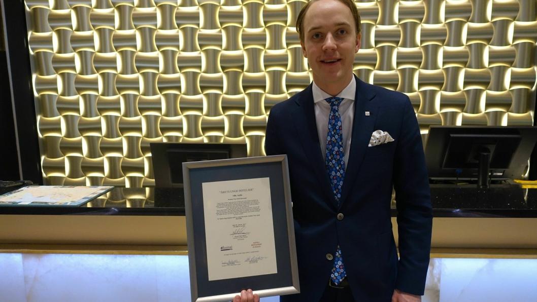 BLID OG FLINK: - Jeg er utrolig stolt, ydmyk og takknemlig over å motta denne ærefulle prisen, sier årets unge hotelier 2016.