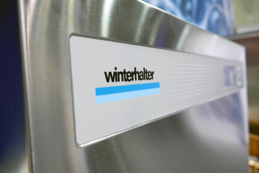 NYHETEN: Winterhalters nye glassvaskere med omvendt osmose gjør glasspussing overflødig.