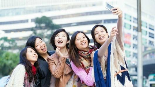 SELFIE-TIME: Kinesiske turister øker mest. Foto: China Tourist Agency.