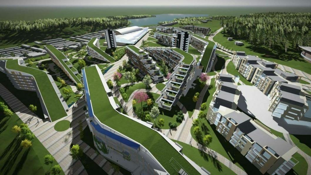 2020: Slik er det planlagt at Oslofjord Convention Center ser ut om drøye to år.