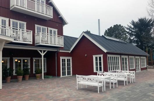 PÅBYGG: Hotellet har i løpet av vinteren bygd på med et ekstra restaurantbygg.