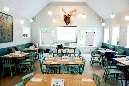 """KAN KOMBINERE: Med det nye restaurantbygget kan den """"gamle"""" restauranten brukes til konferanser, mens gjester spiser i den nye avdelingen."""