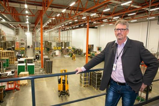 SJEF: Terminalsjef Arild Steen styrer frukt og grønt-logistikk i milliardklassen.