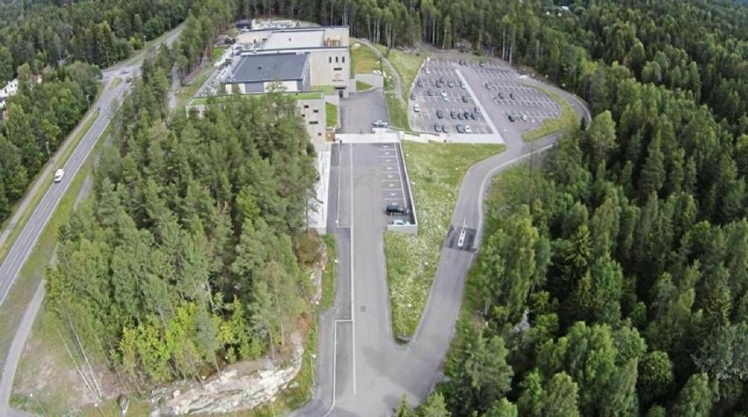 PLANER: I det grønne området til venstre i bildet er det planlagt at hotellet skal bygges.