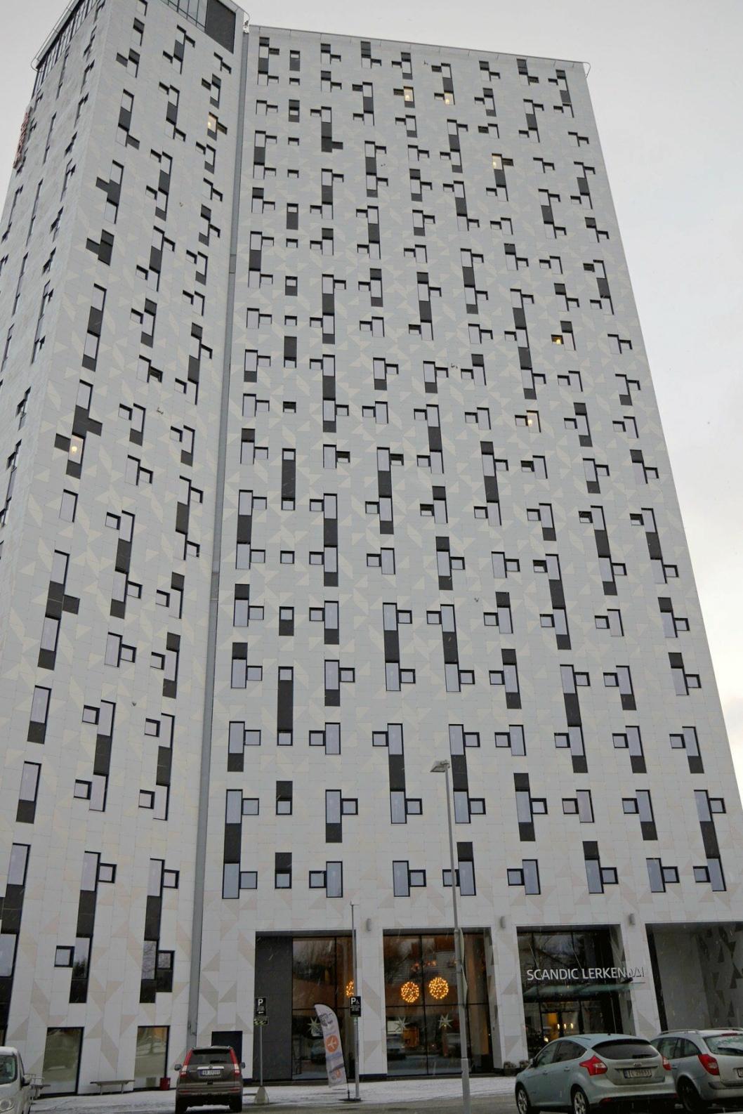 HØYT: Scandic Lerkendal i Trondheim har også 21 etasjer.