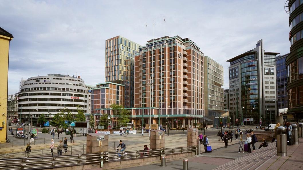 THE HUB: Slik er det planlagt at Clarion Hotel The Hub skal se ut fra Oslo S.