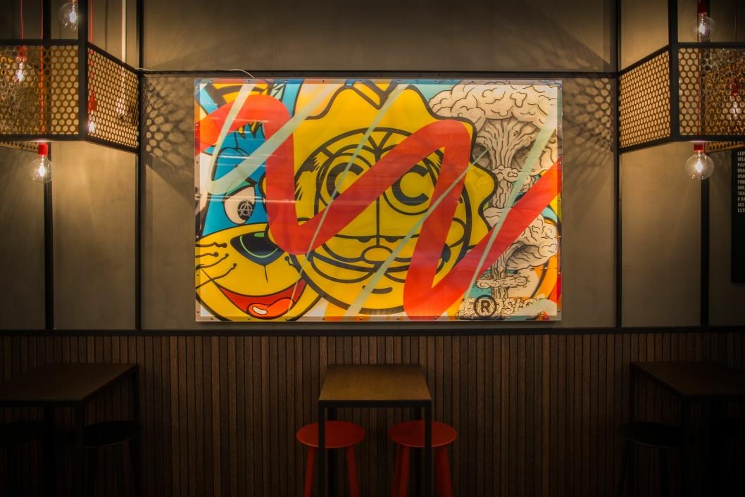 RØFT: Kunsten i Bar Bastard er signert BROSLO.