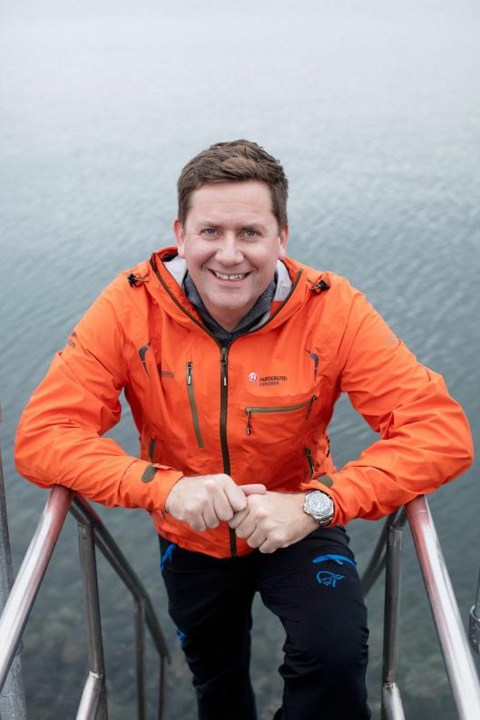 SJEF: Konsernsjef i Hurtigruten Daniel Skjeldam har grunn til å smile.