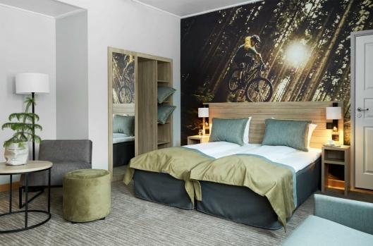 NYTT: Store deler av hotellet er nyoppusset, deriblant rommene.