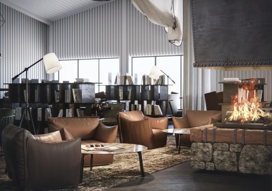 LOUNGE: Slik skal loungen på Radisson Blu Polar Hotel se ut etter oppgraderingen.