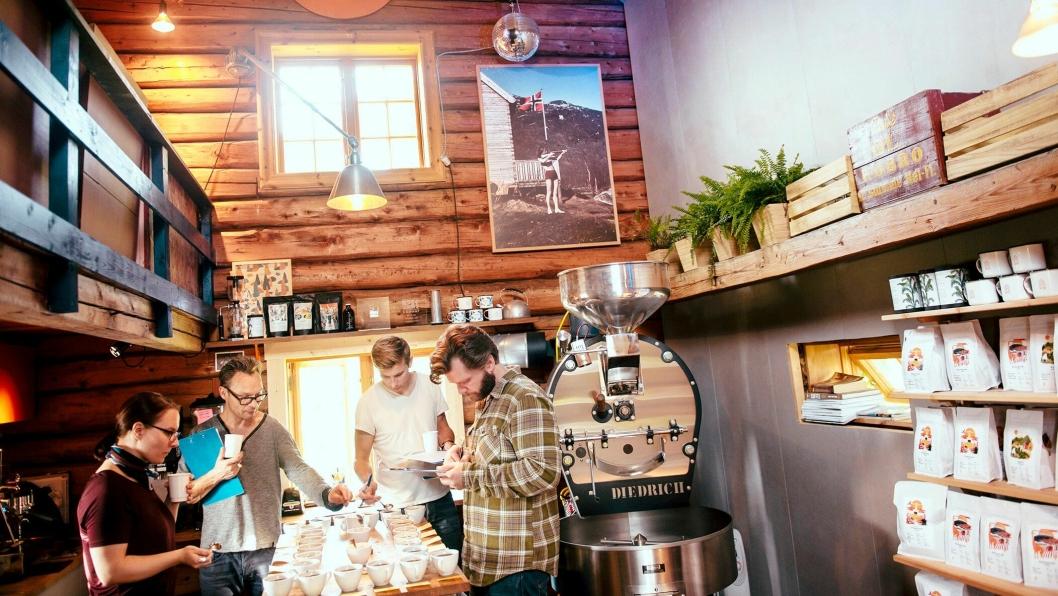 NM: Langøra Kaffebrenneri arrangerer NM i kaffebrenning.