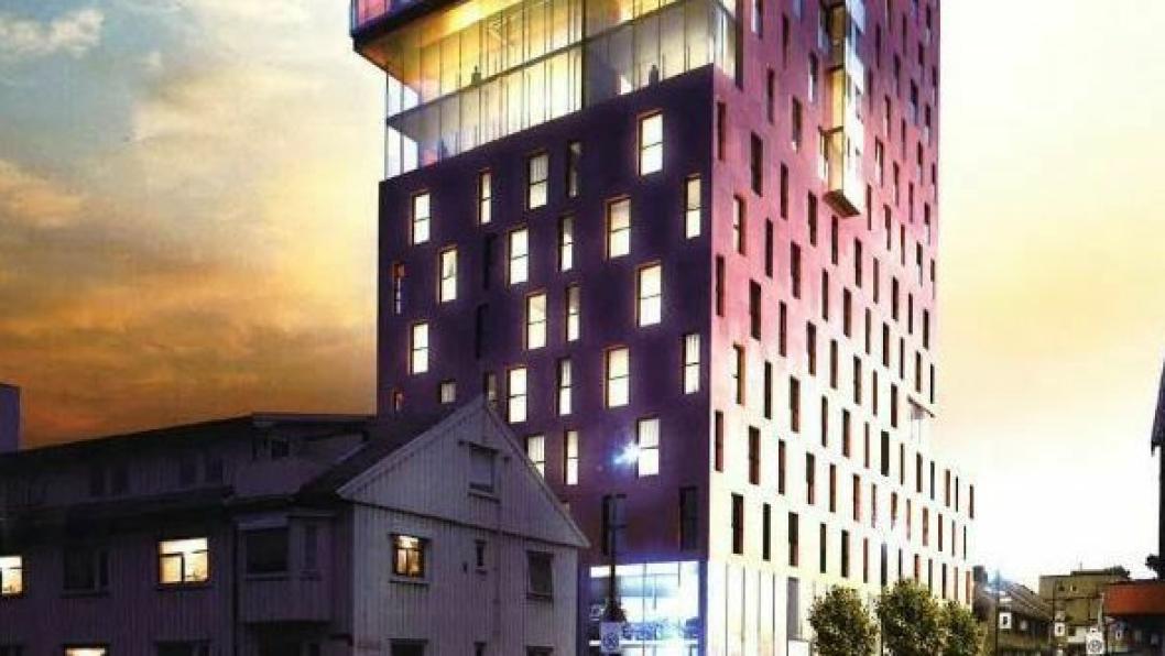 THE STORM: Slik ser arkitektene for seg at Norlandias nye Bodø-hotell skal se ut.