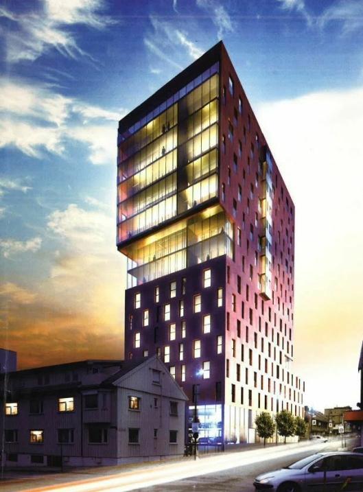 THE STORM: Slik ser arkitektene for seg at Norlandias nye Bodø-hotell skal se ut..