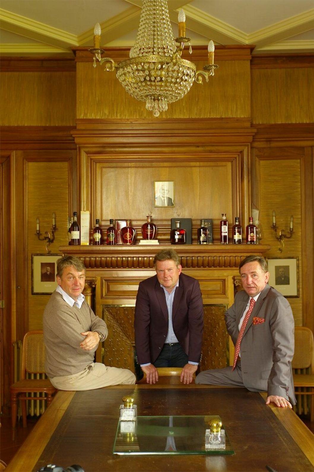 BRØDRENE: Det er denne trioen som styrer Braastad-selskapet. De er fjerde generasjon.
