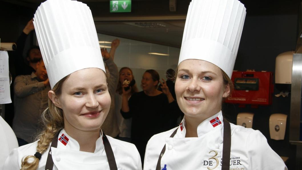 VANT: Idunn Nilssen t.v. og Camilla Berg Mårtensson hos kantineaktøren De 3 Stuer vant finalen i kantine-NM.