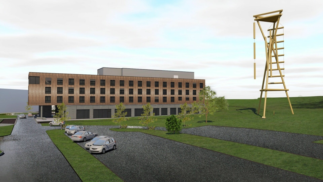 NYTT: Slik blir Brennemoen Hotell. Foto: Illustrasjon av Lorentz Kielland Arkitekter.