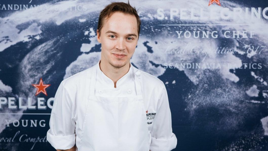 VINNER: Svenske Anton Husa vant kokkekonkurransen.