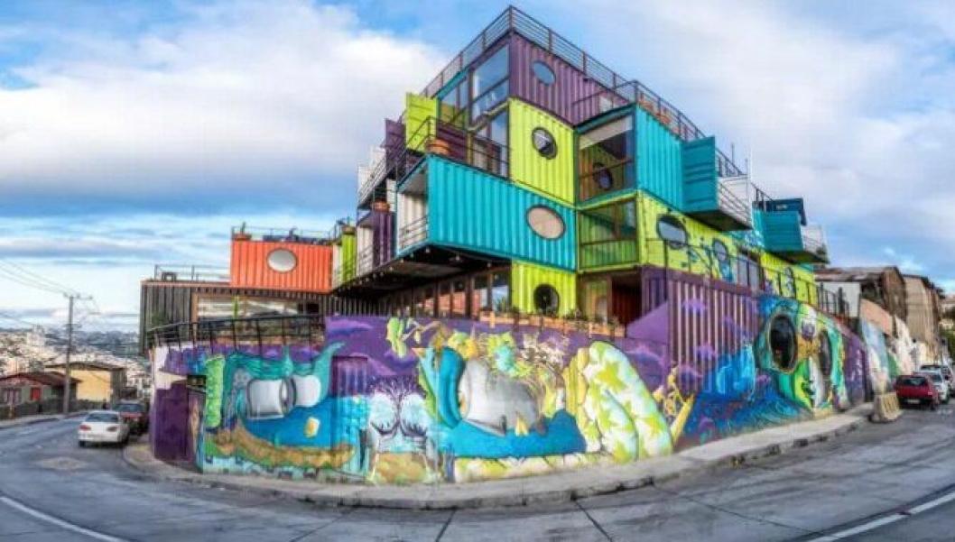 TURISTATTRAKSJON: Container-hotellet har blitt en av byens største turistattraksjoner.