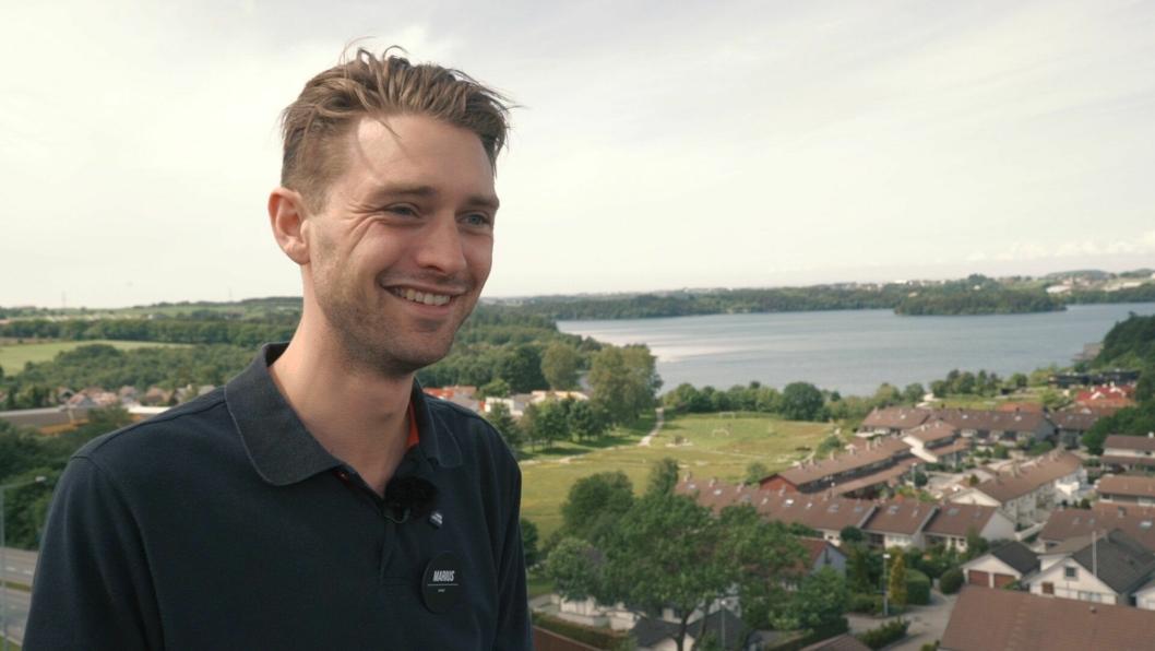 """POTET: Marius Stangeland er energibunten med tittelen """"Potet""""."""