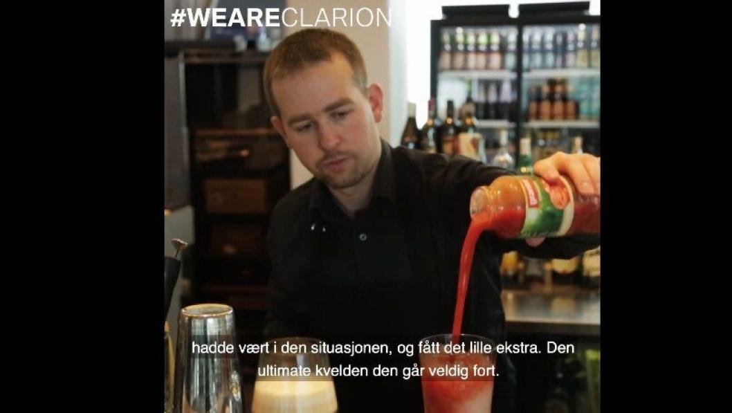 MR. MIXER: Bartender Andreas Grøntvedt jobber på Clarion Hotell & Congress Trondheim.