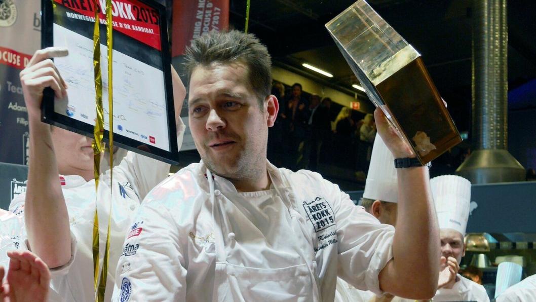 VINNER: Christopher W. Davidsen er kjent for å prestere. Her fra Årets Kokk 2015 som han vant.