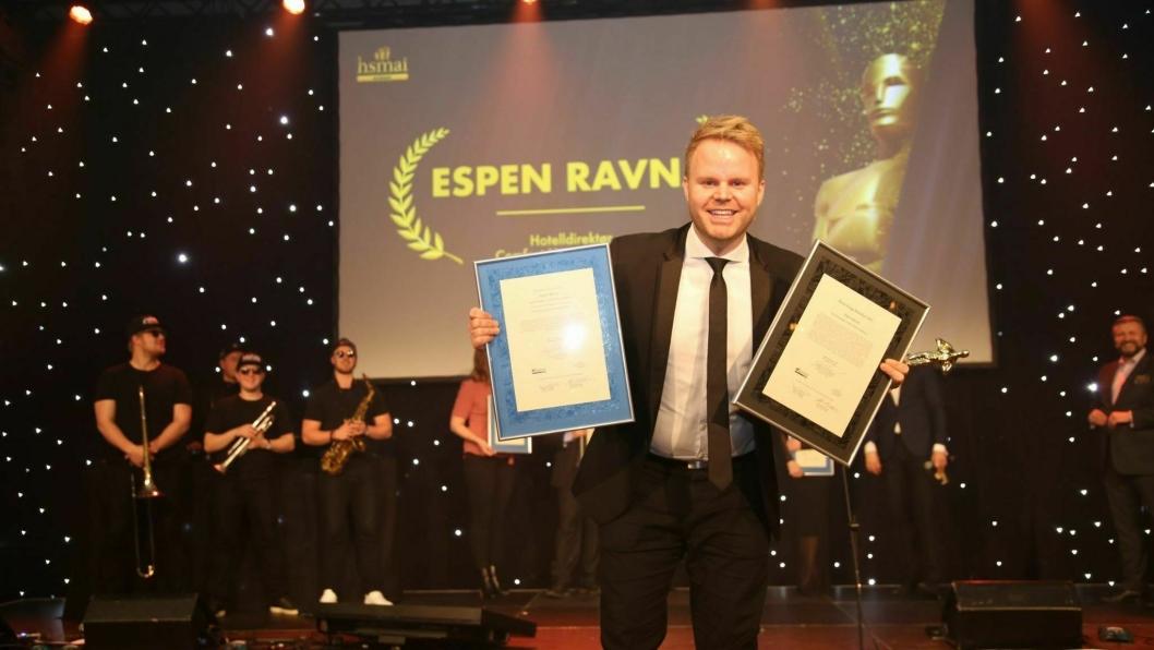 JUBEL: Espen Ravnå, GM ved Comfort Hotel Trondheim, er Årets Unge Hotelier. Foto: Camilla Bergan.