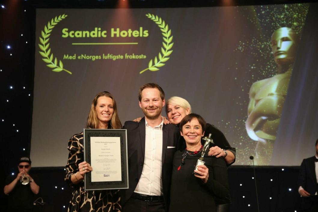 """PR-PRIS: Scandics PR- og kommunikasjons-avdeling fikk pris for """"Norges luftigste frokost"""". Foto: Camilla Bergan."""