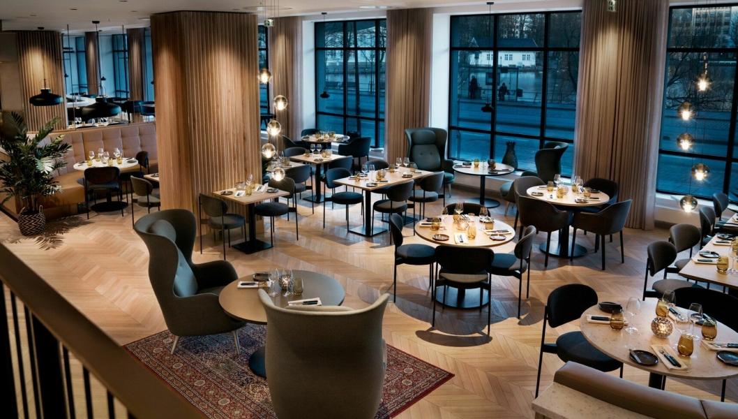 DELIKAT: Nye og flotte lokaler stetter stemningen i restauranten.