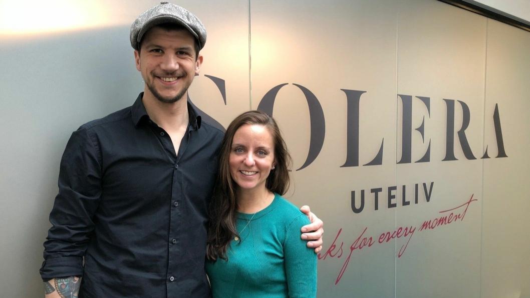 NY FJES: Sebastian Rönnebring (29) og Kine Rasmussen (30) er ansatt som nye Area Sales Managere i Solera Uteliv.