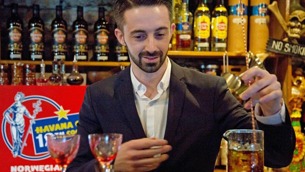 VINNER: Maxime Verrier - Vinneren av den norske finalen til Havana Club Cocktail Grand Prix 2018.
