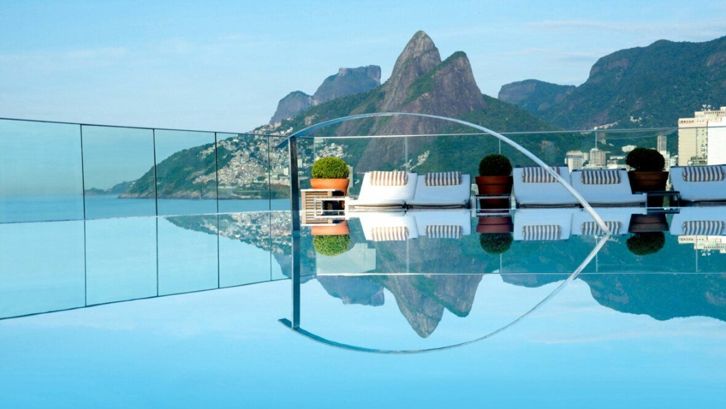 4. plass: Hotel Fasano, Rio de Janeiro – det perfekte bassengbildet .