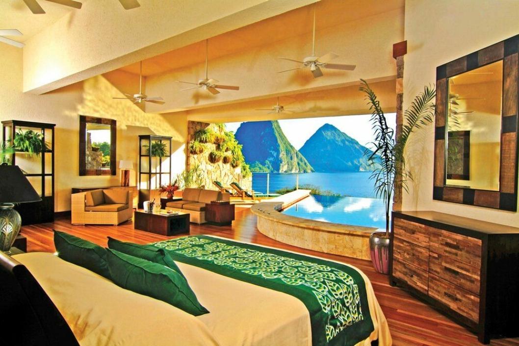 5. plass: Jade Mountain Resort, Saint Lucia – et bad litt utenom det vanlige.