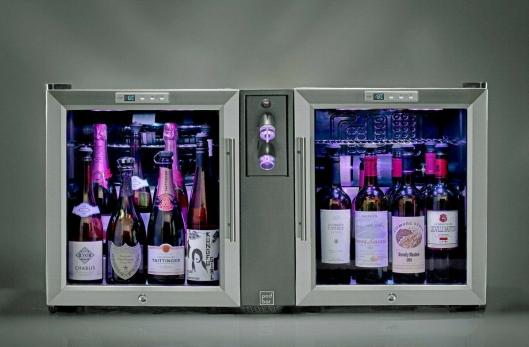 NYTT: Det nye Le Verre de Vin Pod Bar-systemet er en komplett løsning som kombinerer Le Verre de Vin-teknologien med tempererte vinskap spesielt tilpasset åpnede flasker.