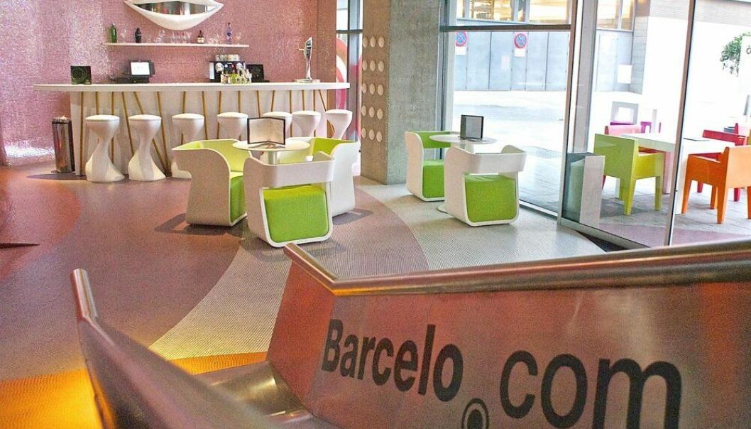 7. plass: Barceló Málaga, Spania – en leken hotellobby.