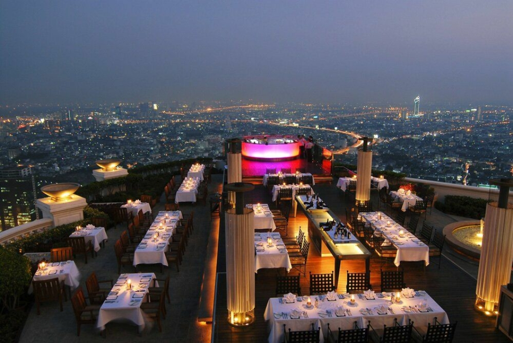 10. plass: Lebua at State Tower, Bangkok – den ultimate baropplevelsen.
