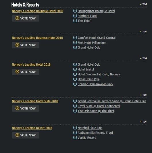 OG DE NOMINERTE ER: Her er hele listen over de nominerte fra Norge. Klikk på bildet for større versjon.