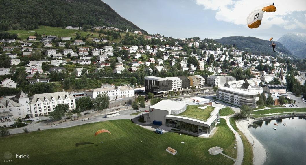 AKTIVT STED: Voss er blant annet kjent for Ekstremsportveko og i 2020 får adrenalinjegerne et nytt hotelltilbud.