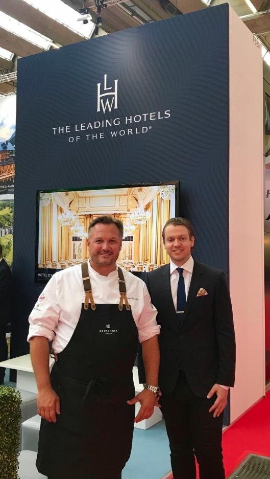"""FORNØYDE: Britannias hotelldirektør Mikael Forselius og salgs- og markedsdirektør Peter Gjerde, er fornøyd med å bli en del av den eksklusive """"familien""""."""