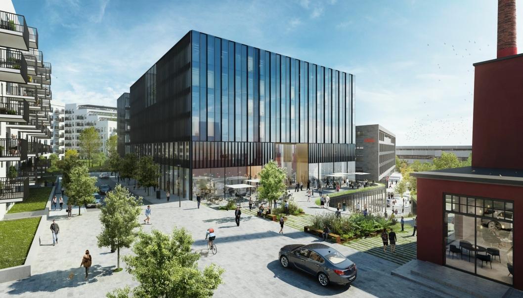 SLIK BLIR DET: De foreløpige tegningene tyder på at det nye Stordalen-hotellet på Hasle blir slik.