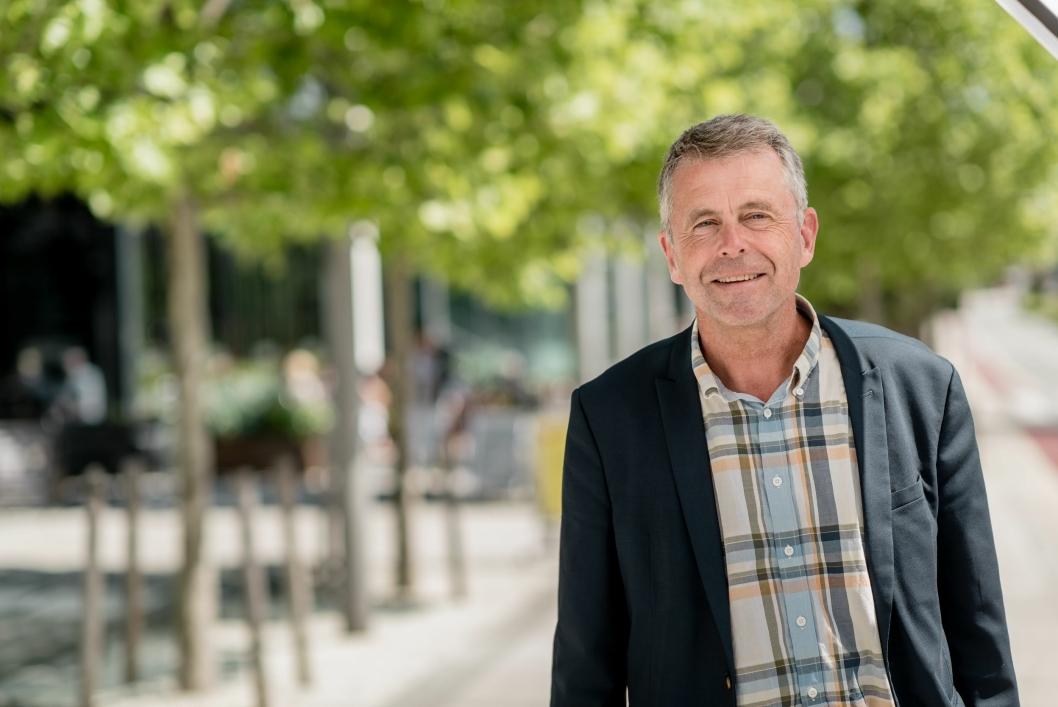 GLEDER SEG: Administrerende direktør Petter Eiken i Bane NOR Eiendom.