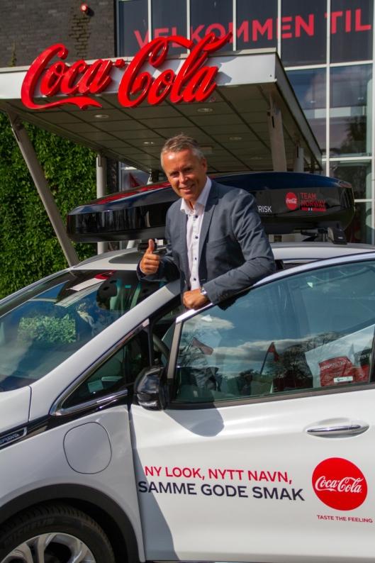 ELEKTRISK: Adm. dir. i Coca-Cola Norge, Stein Rømmerud, sier at gode miljøtiltak også er god business.
