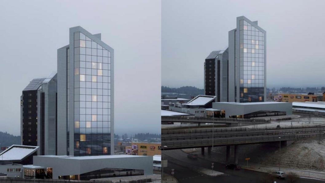 BLIR NY: I 2020 skal Quality-hotellet på sørsiden av Trondheim stå helt klart igjen. Hotellet skal holdes åpent i byggeperioden.