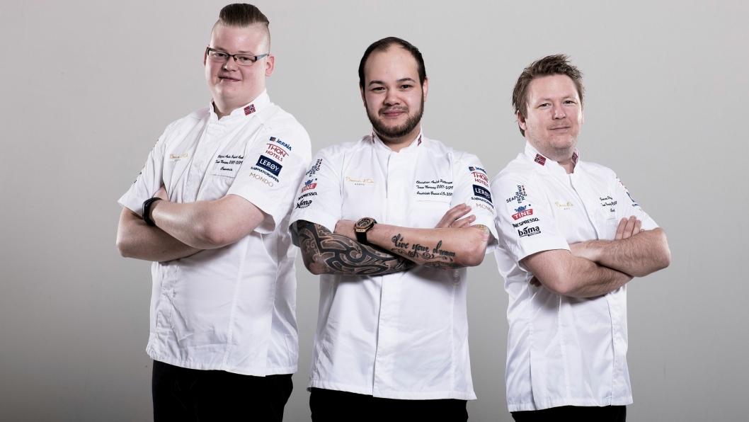 TEAM CAP: Denne trioen skal forsvare Norges ære i Lyon i januar.