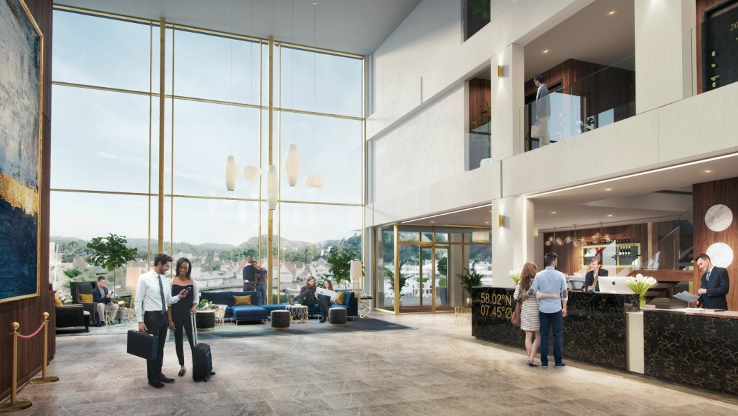 MINNEVERDIG: Foajeen er lys og åpen, konferanserommene er moderne og stilrene, og hotellet er bemannet med fagfolk som er tilstede for å gjøre oppholdet minneverdig for gjesten.