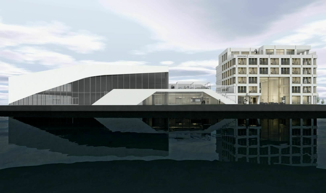 NYTT: Slik skal Mandal Hotel se ut når det åpner i mai 2019. Arkitekten bak hotellprosjektet er arkitekt MNAL og interiørarkitekt, Grethe Løland som driver Arkitektværelset AS i Oslo.