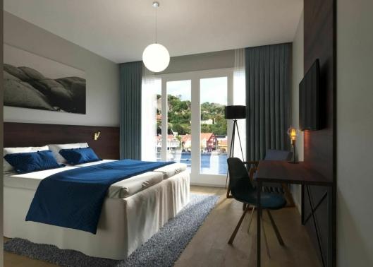 UTSIKT: Alle rommene får utsikt mot sjøen, lover hotelldirektøren.