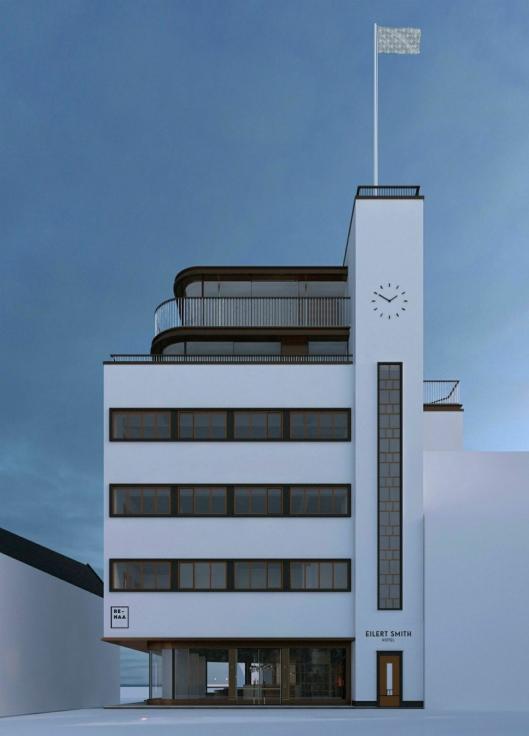 HER: I første etasje i dette bygget blir Re-Naa´s nye hjem.