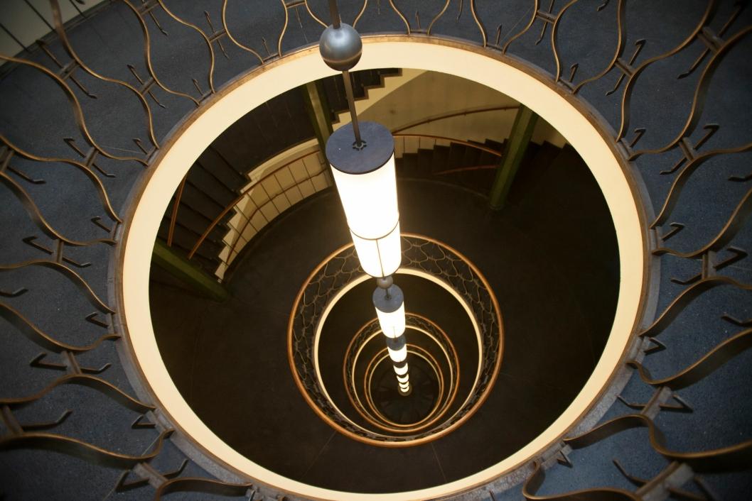 SPEKTAKULÆR: Art deco-trappen i Oslo Lysverker.