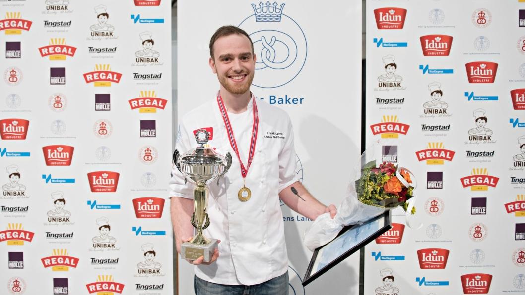 NYBAKT MESTER: Nikolai Meling er Norgesmester i baking.